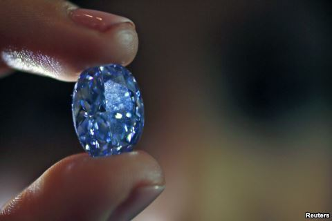 Largest Oval Blue Diamond to Be Auctioned in Hong Kong