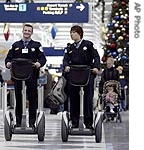 Police riding segways
