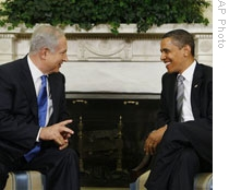 President Obama with Israeli Prime Minister Benjamin Netanyahu at the White House