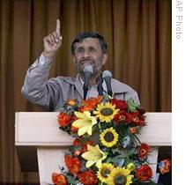 President Mahmoud Ahmadinejad during his visit to Semnan