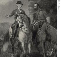 The last meeting of Robert E. Lee and Stonewall Jackson
