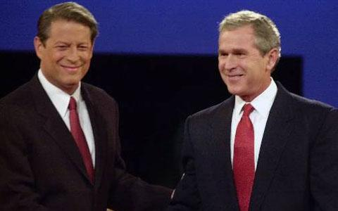 an analysis of the environmental views of presidential candidates al gore and george w bush Though jefferson was clearly the democratic-republican's candidate for  president, the federalist party considered burr to be less of an evil.