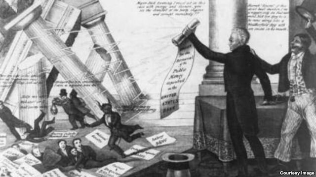 the policy of andrew jackson a president of the united states From left, president donald trump, the 45th president of the united states, president andrew jackson, the seventh president of the united states.