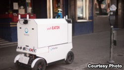 Marble has teamed up with Yelp Eat24 to offer food deliveries via a driverless robot. (Marble)