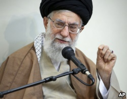 Supreme Leader Ayatollah Ali Khamenei speaks in a meeting, in Tehran, Iran, Tuesday, Jan. 2, 2018. Photo was released by an official website of the office of the Iranian supreme leader.