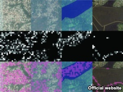 Four different filters identify, from left to right, features corresponding to urban areas, nonurban areas, water, and roads). (Source - Sciencemag.org)