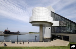 FILE - The exterior of the Rock and Roll Hall of Fame in Cleveland, designed by architect I.M. Pei. Shown May 21, 2013.