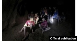 Trapped Thai soccer players in Tham Luang cave.