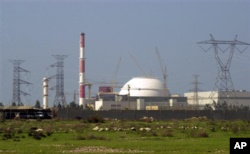 FILE - In this Feb. 27, 2005 file photo, The reactor building of Iran's nuclear power plant is seen, at Bushehr, Iran, 750 miles (1,245 kilometers) south of the capital Tehran.