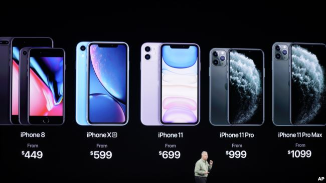 Phil Schiller, Senior Vice President of Worldwide Marketing, talks about the new iPhone 11 Pro and Max, during an event to announce new products Tuesday, Sept. 10, 2019, in Cupertino, Calif. (AP Photo/Tony Avelar)