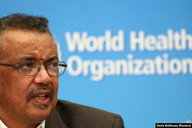 Director-General of the World Health Organization (WHO) Tedros Adhanom Ghebreyesus speaks during a news conference after a meeting of the Emergency Committee on the novel coronavirus (2019-nCoV) in Geneva, Switzerland January 30, 2020.